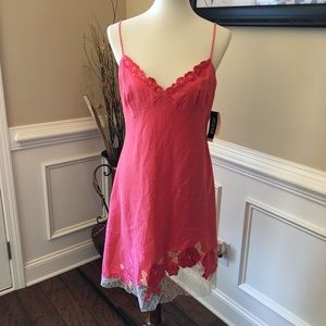 Muse Embroidered Linen Slip dress Sz 8